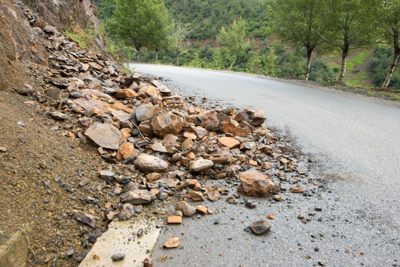derrumbe rocas